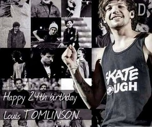 louis tomlinson, one direction, and birthday image