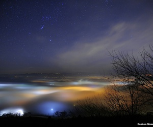 dark, sky, and water image