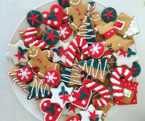 christmas, christmas cookies, and sweet image
