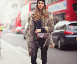 fashion, leather, and street style image