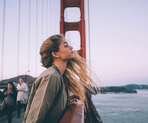 girl, travel, and hair image