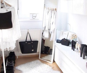 bedroom, closet, and fashion image