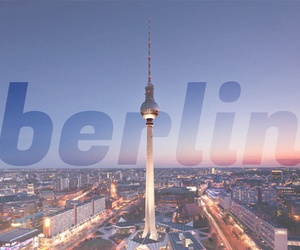 berlin, city, and fernsehturm image