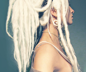 dreads, hair, and white image
