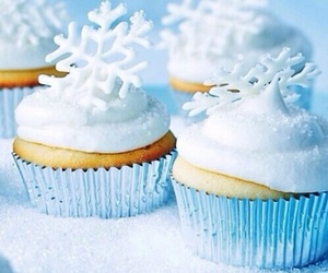 cupcake, winter, and food image
