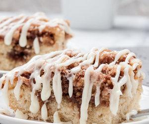 cake, cinnamon roll, and desserts image