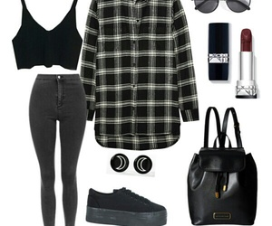 my polyvore, grey, and black image
