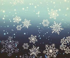 wallpaper, snowflake, and snow image