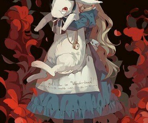 alice in wonderland, deviantart, and drawing image