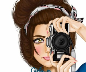 camera, girly_m, and drawing image