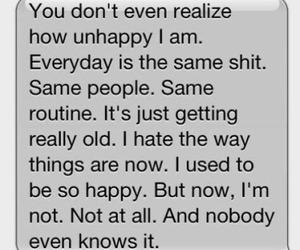 unhappy, sad, and quote image