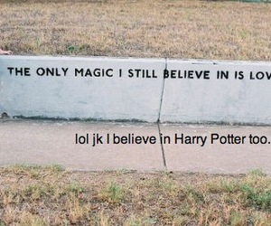 magic, harry potter, and love image