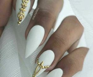 elegant, gold, and nails image