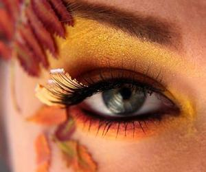 autumn, makeup, and gold image