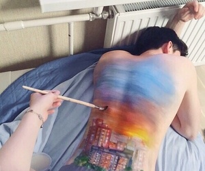 art, body, and paint image