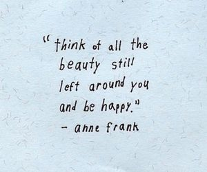 anne frank, words, and b&w image