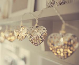 hearts, light, and beautiful image