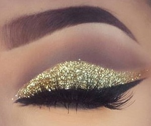 beauty, gold, and glam image