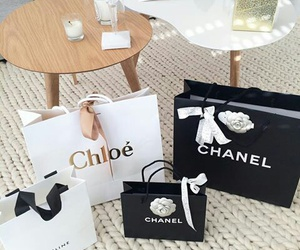 chanel, luxury, and shopping bags image