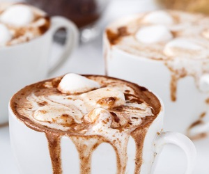 drink, hot ​chocolate, and food image