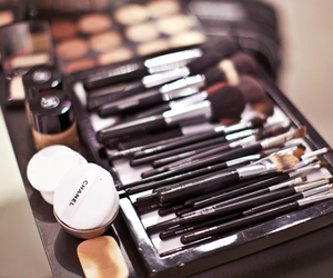 makeup, Brushes, and chanel image
