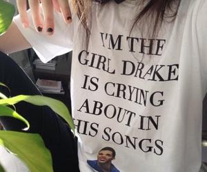 Drake, girl, and grunge image