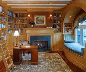 library, book, and home image