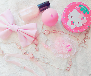 pink, kawaii, and hello kitty image