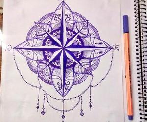 beautiful, draw, and mandala image