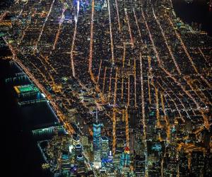 night, new york, and city image