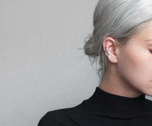 hair, grey, and tumblr image