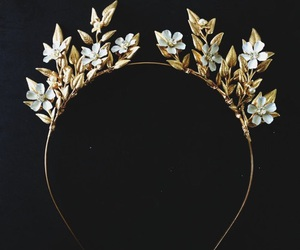 crown, elegant, and gold image