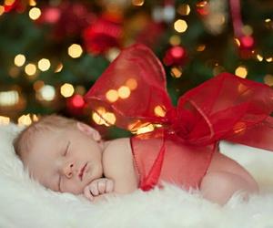 christmas, baby, and gift image