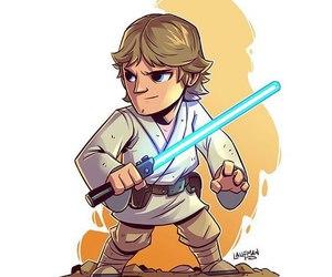 luke skywalker, star wars, and the force awakens image