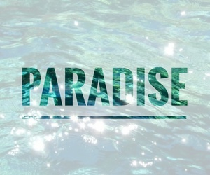 paradise, quote, and water image