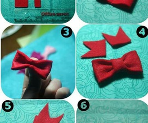 bow, red, and christmas image