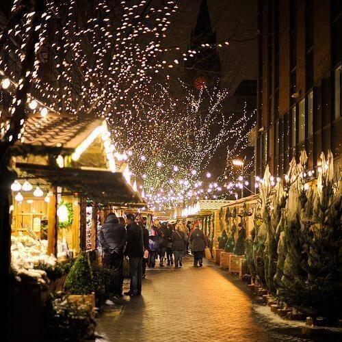 christmas, night, and winter image