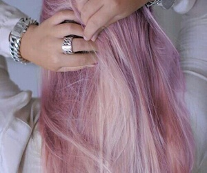 cool, hair, and pink image