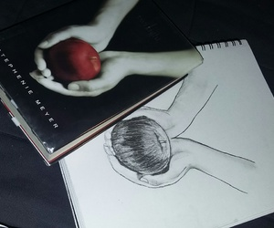 art, books, and charcoal image