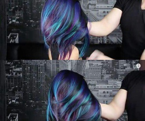 colors, hair, and in image
