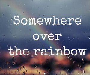 quote, rainbow, and words image