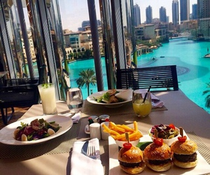 food, luxury, and view image