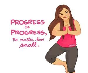 fitness, progress, and motivation image