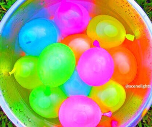 summer, water, and balloons image