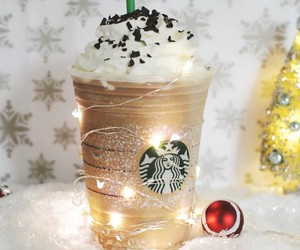 christmas, starbucks, and light image