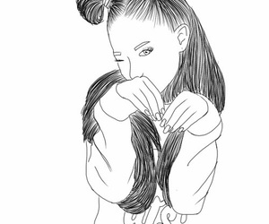 outline, tumblr, and arianagrande image