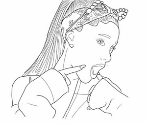 outline, ariana grande, and drawing image
