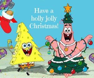christmas and spongebob image