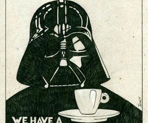 coffee, star wars, and darth vader image