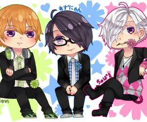 anime boy, tsubaki asahina, and azusa asahina image
